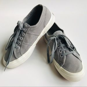 SUPERGA Core Classic Grey Lace-Up Sneakers